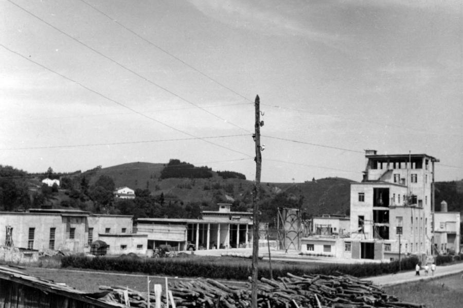 Electroquímica de Hernani plant, 1955